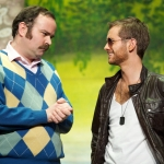 Greg Hemphill and Sean Biggerstaff in Appointment With the Wicker Man