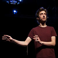 Former Pearson Playwright in Residence Kieran Hurley in a scene from Rantin (National Theatre of Scotland/ Arches).